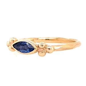 "Marquise Yogo Sapphire ""Cluster"" Ring"
