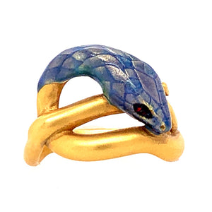 """The Blue Serpent"" Ring"