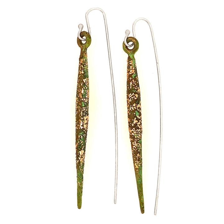 """Bronze Dagger"" Earrings"