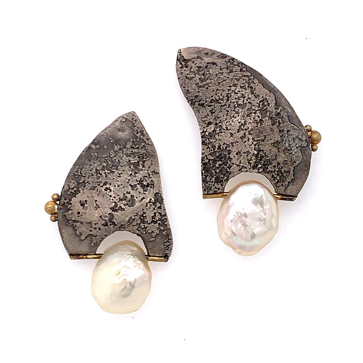 Keshi Pearl Post Earrings