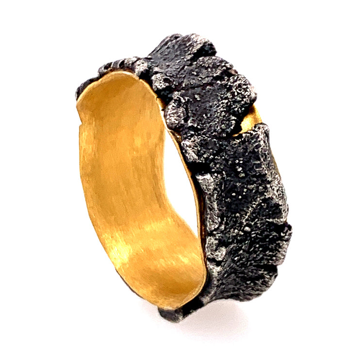 Two-Tone Gold and Silver Band by Michael Jensen Designs