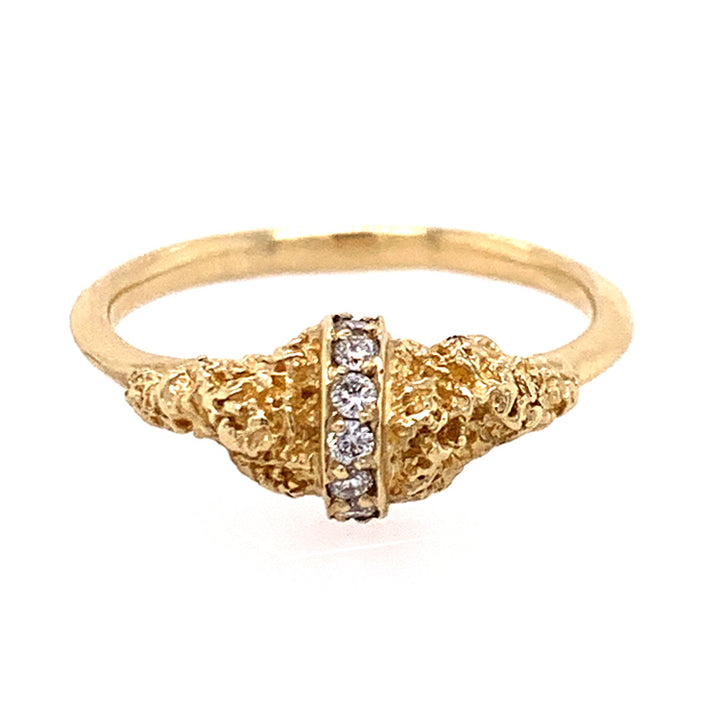 Chryseum Lava Rock Diamond Ring