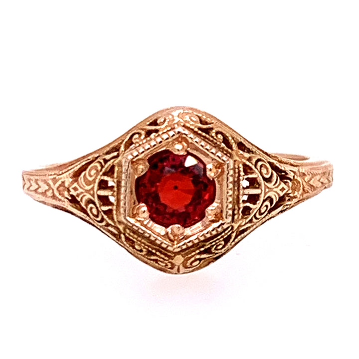 Montana Ruby & Rose Gold Ring