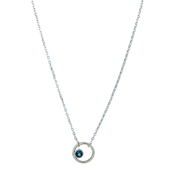 "Montana Sapphire ""Circle"" Necklace"