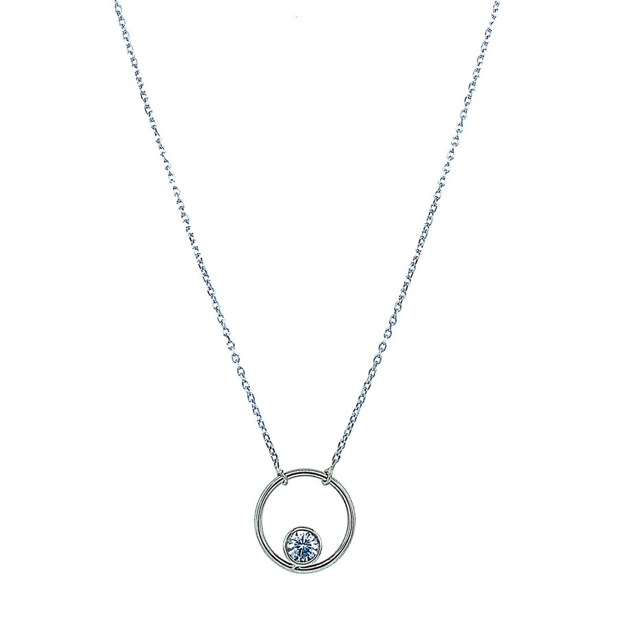 "White Montana Sapphire ""Circle"" Necklace"