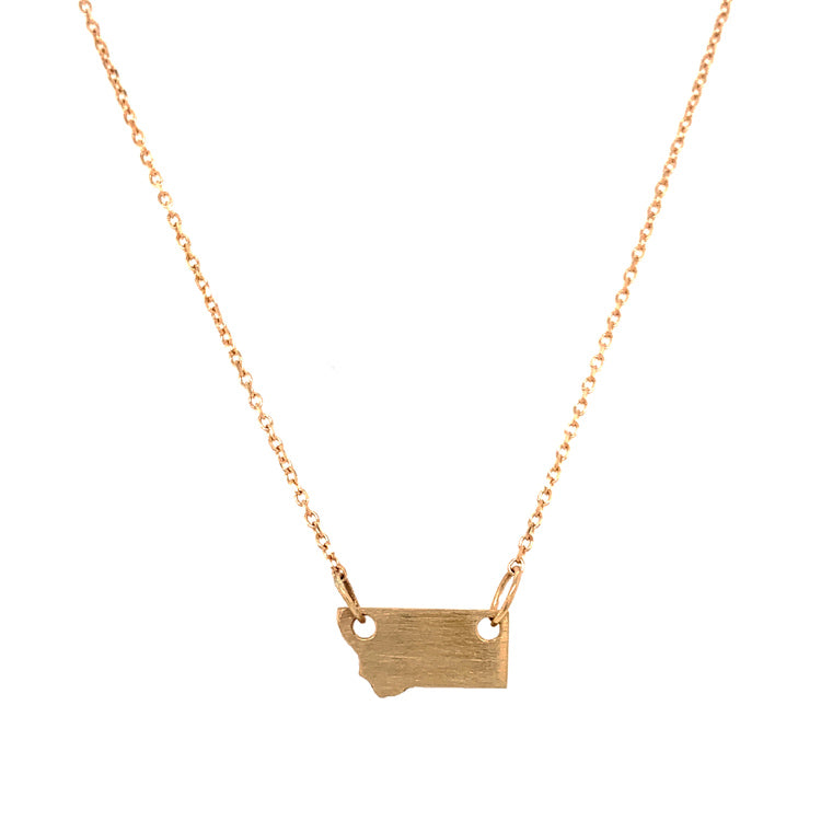 """Last Best Place"" Petite Gold Necklace"