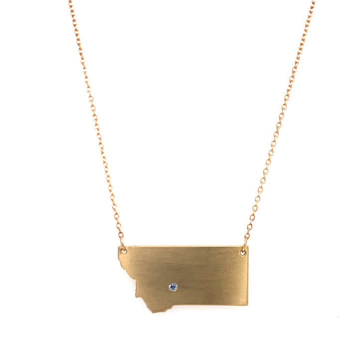 "Montana State ""Last Best Place"" Necklace"