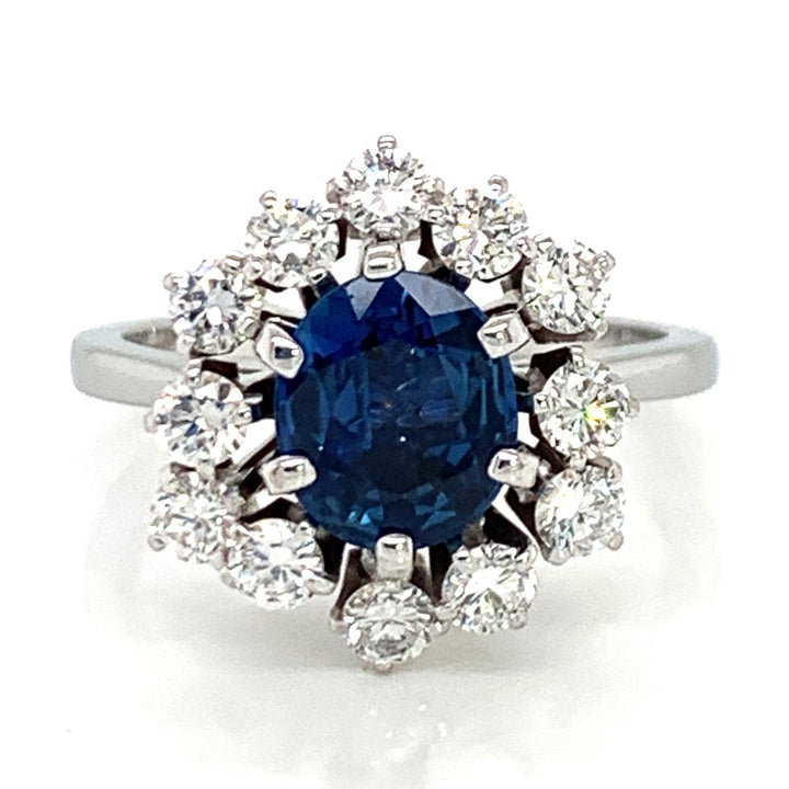 Yogo Sapphire and Diamond Estate Ring