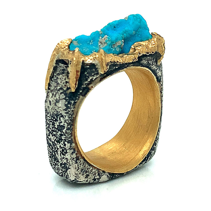 """The Crusader"" Turquoise Ring"