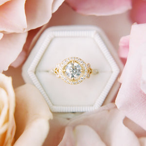 """Elizabeth"" Vintage Inspired Diamond Ring"