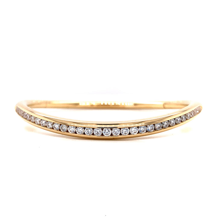 """Riviera"" Channel-Set Diamond Bangle Bracelet"