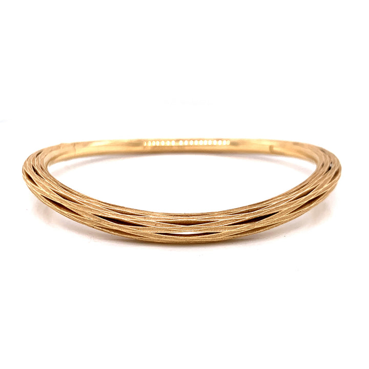 """New Reeds"" Gold Bangle Bracelet"