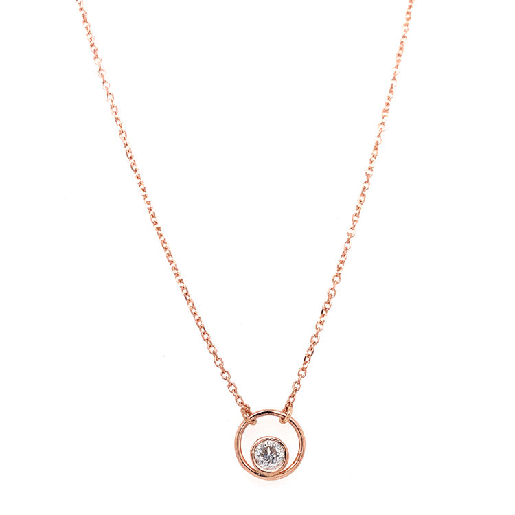 "Petite Diamond ""Circle"" Necklace"