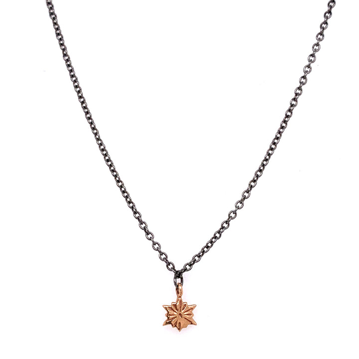 Petite Rose Gold Snowflake Necklace