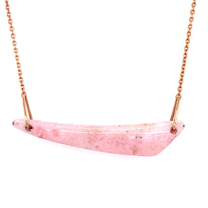 """Heralding Dawn"" Pink Opal Necklace"