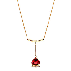"""Cattleya"" Pink Tourmaline & Diamond Necklace"