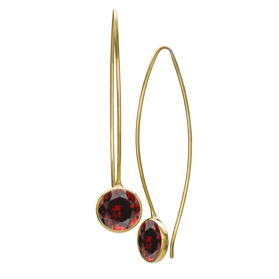 "Raja Garnet ""Comet"" Earrings"