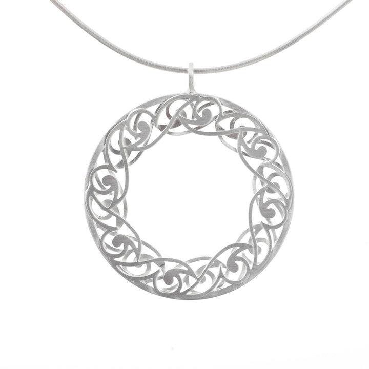Sterling Silver Open Center Pendant