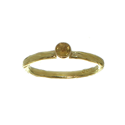 Sarah Graham Yellow Montana Sapphire Pebble RIng