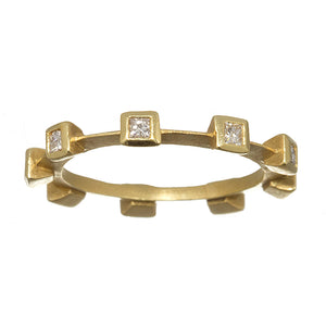 Suzy Landa Princess Cut Diamond Stacking Eternity Band
