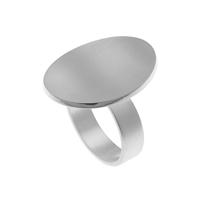 Sterling Silver Elemental Oval Ring