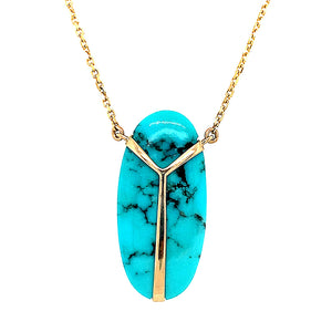 "One-of-a-Kind ""Lucky Scarab"" Necklace"