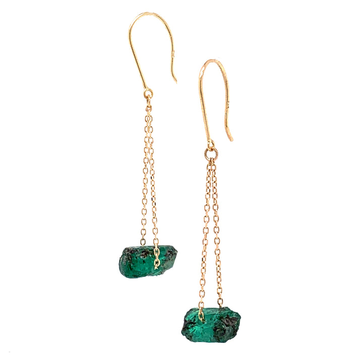 "Emerald ""Swing"" Drop Earrings"