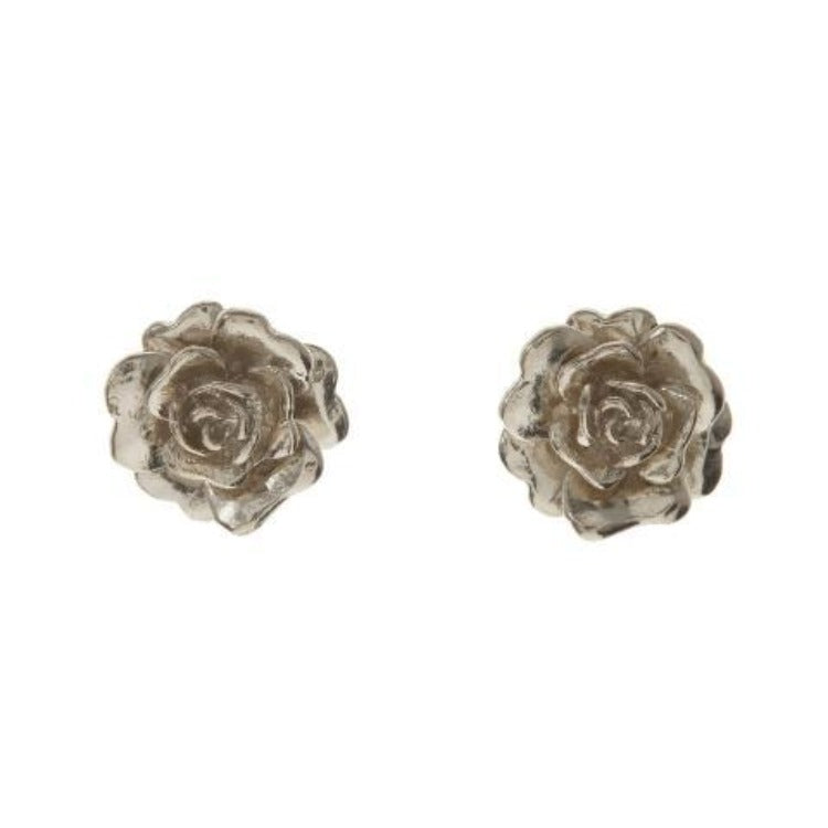 """Rosa Damasca"" rose stud earrings by Alex Monroe"