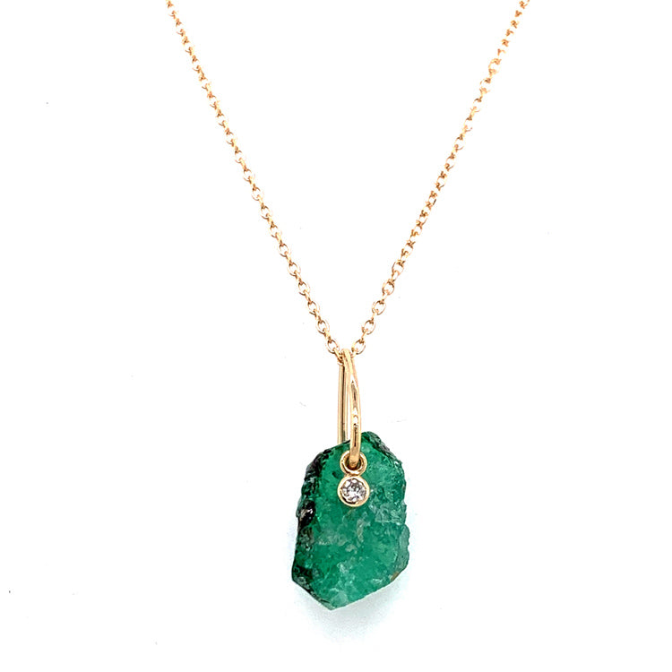 """Esmeralda"" Emerald & Diamond Necklace"