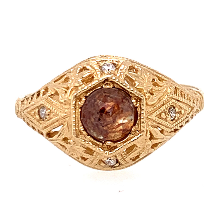 Rustic Brown Diamond Die-Struck Ring