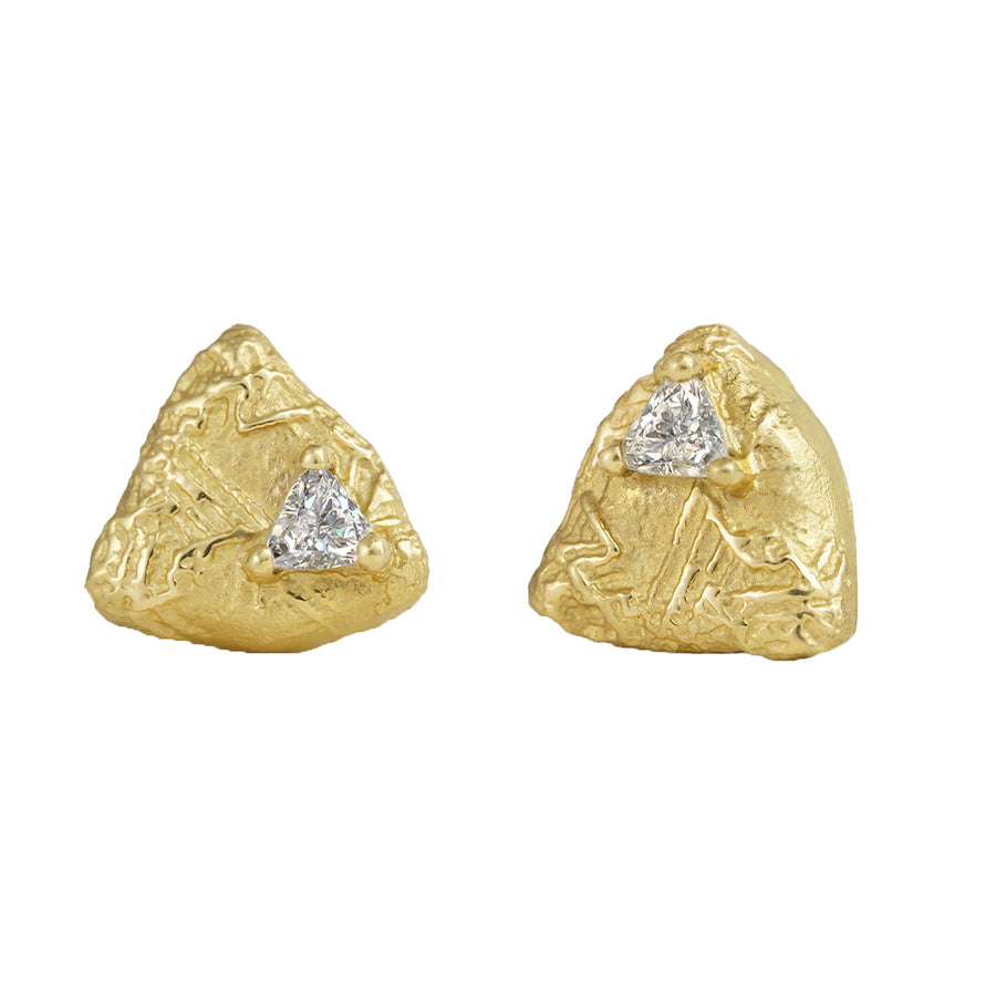 Sarah Graham Trigon Diamond Stud Earrings