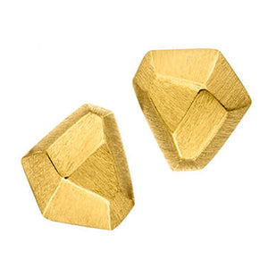 Asymmetrical Gold Studs