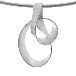 Sterling Silver Ribbon Pendant
