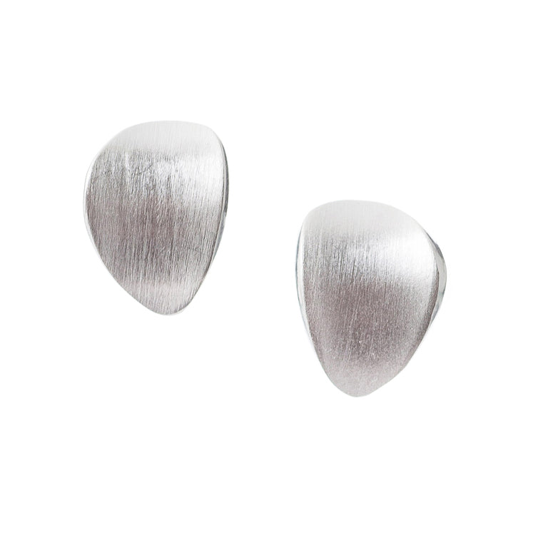 Sema Sezen Textured Concave Stud Earrings