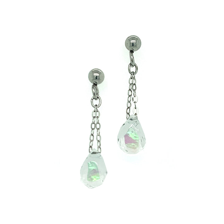 """Winter-Mint"" Opal Drop Earrings"