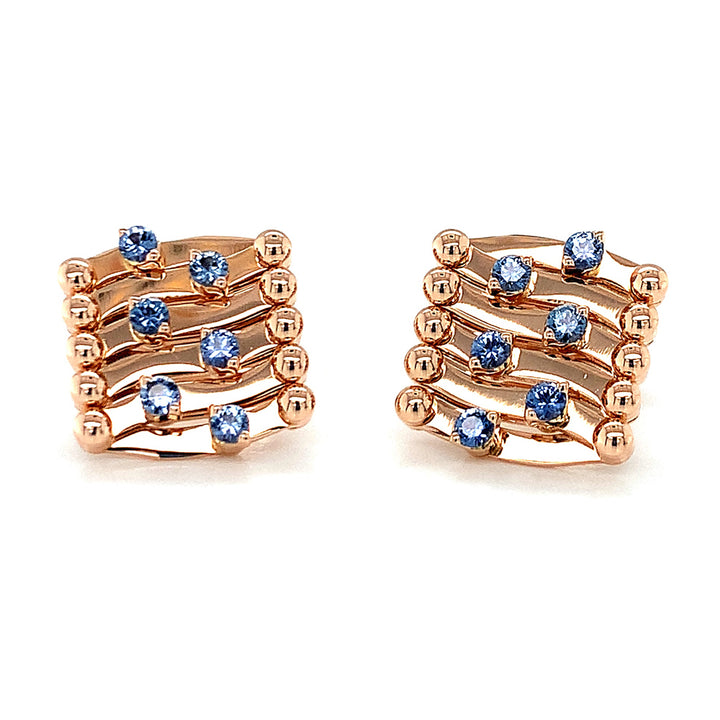 Exclusive Yogo Sapphire Brevetto Earrings