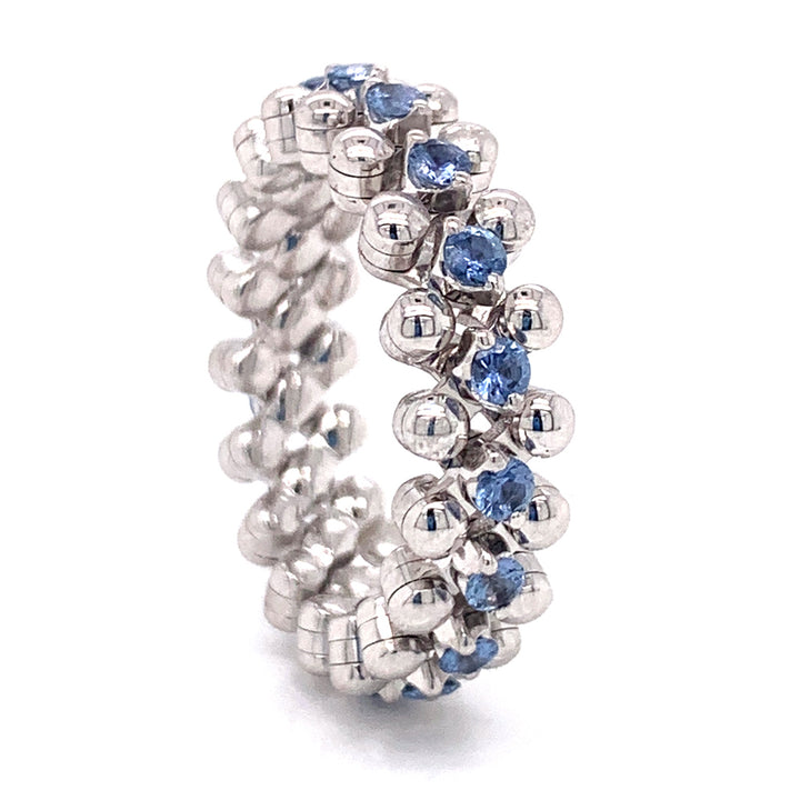 Exclusive Brevetto Multisize Ring with Yogo Sapphires