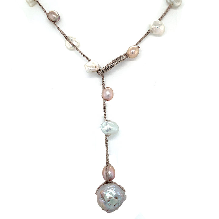 """Warmer Weather"" Pearl Necklace"