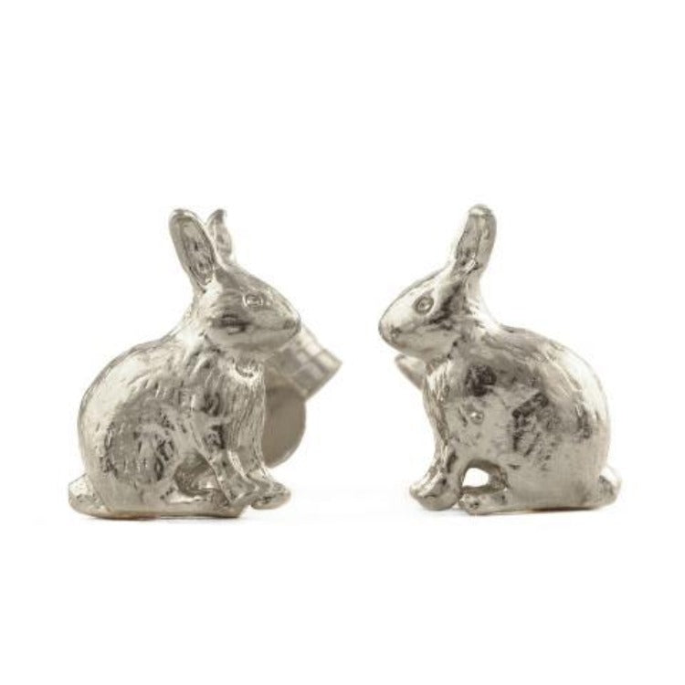 Sitting bunny stud earrings by Alex Monroe
