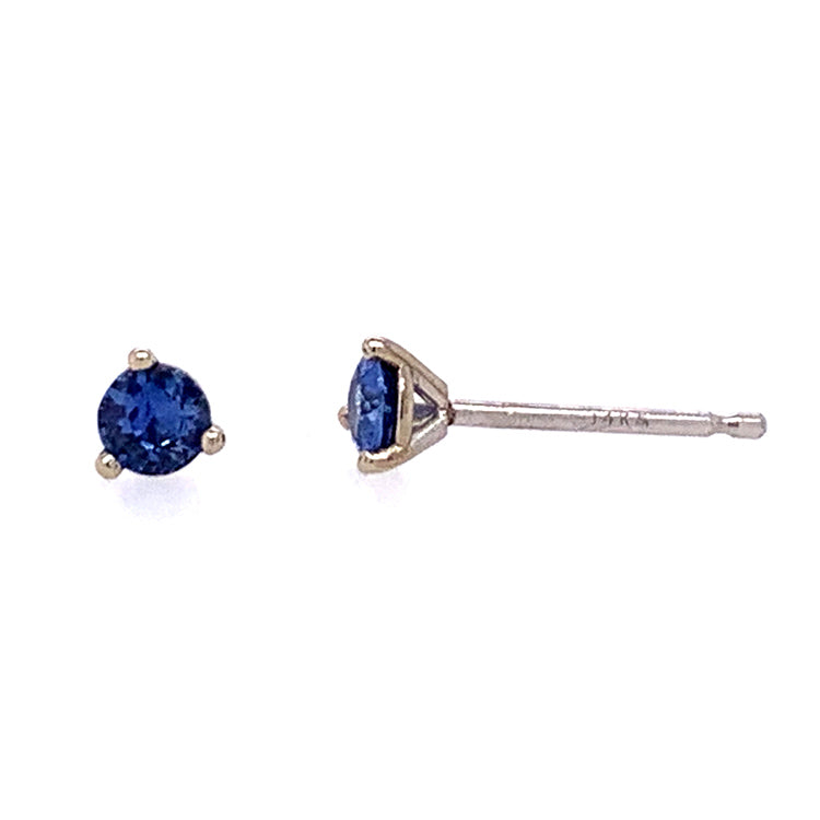 Small Yogo Sapphire Stud Earrings