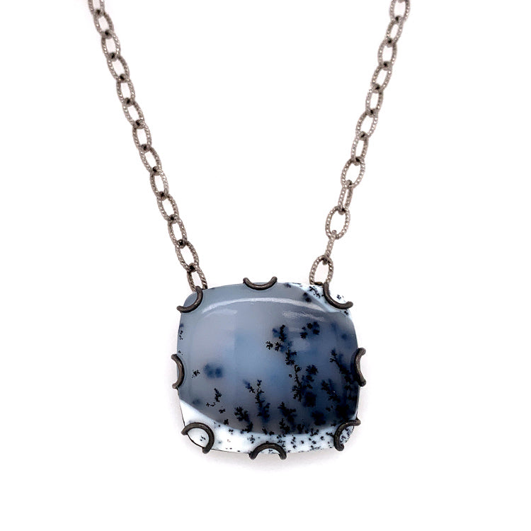 """Bridger in Winter"" Agate Necklace"