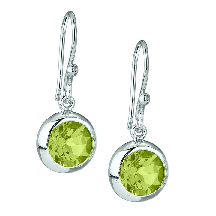 Stephen Estelle Full Moon Peridot Drop Earrings