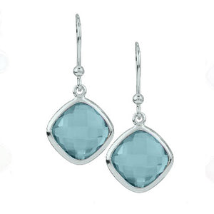 Stephen Estelle kite-shaped blue topaz earrings