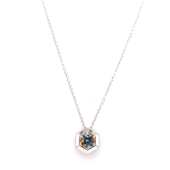 """Misty Morning"" Montana Sapphire Slide Necklace"