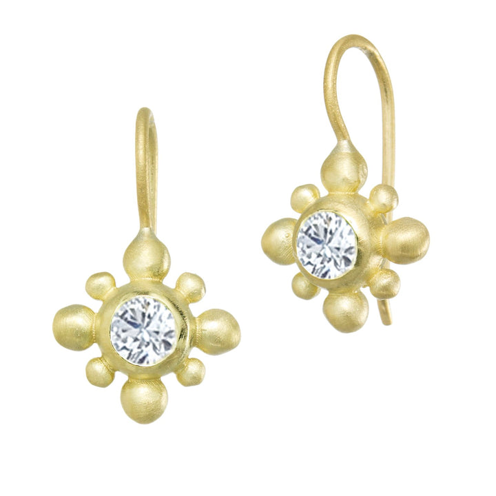 Suzy Landa Tiny Beaded Diamond Earrings
