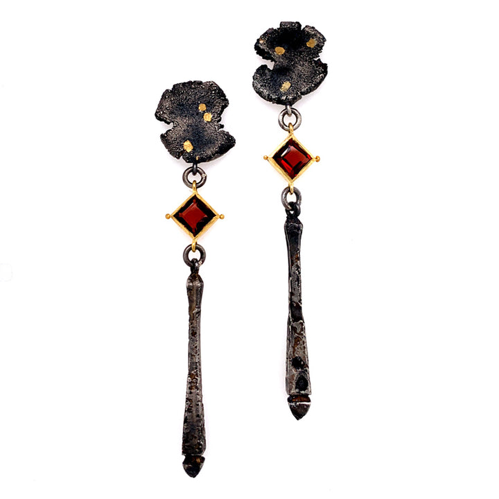 Talentum Garnet Drop Earrings