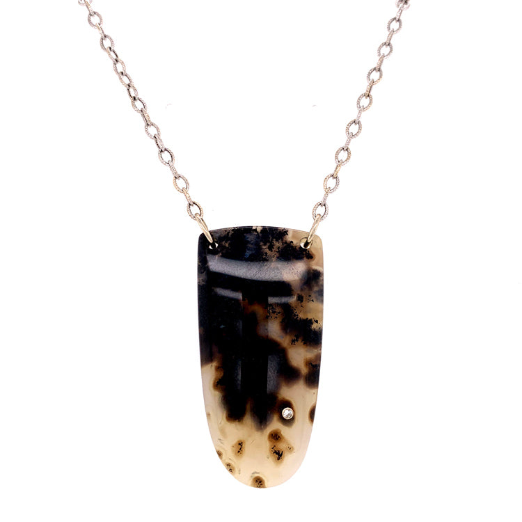 "Montana Moss Agate ""Shields Valley"" Necklace"