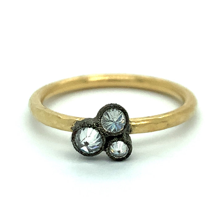 """Star Cluster"" Inverted Diamond Ring"