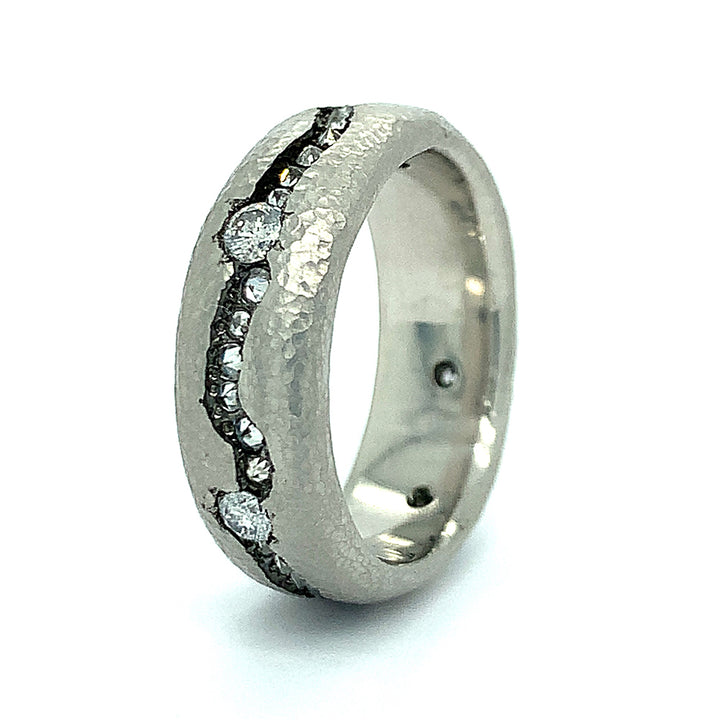 """Diamond Islands"" Platinum Ring"