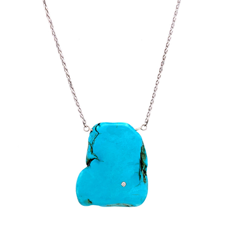 """Western Wanderer"" Turquoise Necklace"